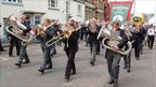 Brass band performing