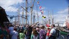 Tall Ships moored in Greenock