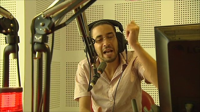 Wassim Herissi lampoons Arab leaders on his radio show
