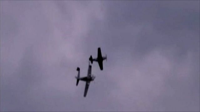 PPlanes collide above RAF Duxford