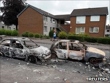 Burnt out cars in Ballyclare