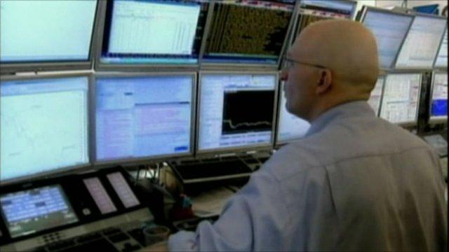 Trader at work