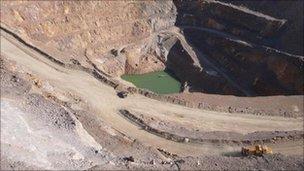 A rare earths mine