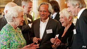 The Queen, Anish Kappor and Dame Judi Dench
