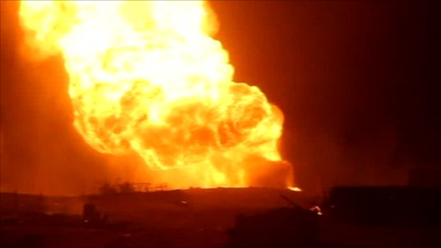 Gas pipeline explosion