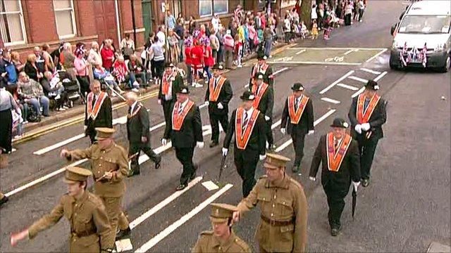 Orange Order marching
