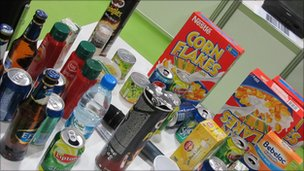 Household goods on table, BBC