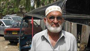 Rickshaw driver Fazal Ayaz