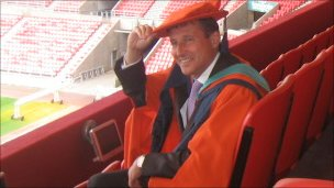 Lord Coe wearing his mortar board