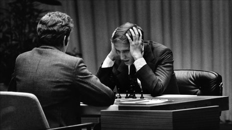 Bobby Fischer playing Boris Spassky, Iceland, 1972