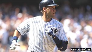 Derek Jeter, a baseball player