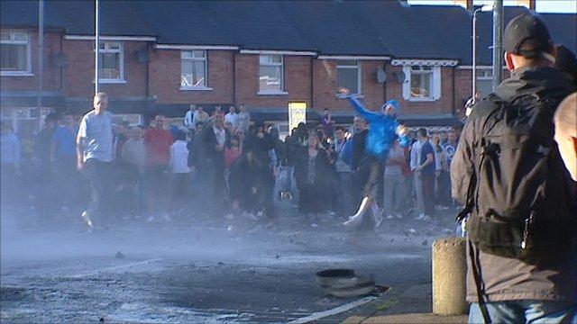 Riots in the Ardoyne area.
