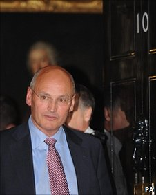 Sir Paul Stephenson leaving No 10