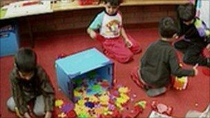 Children in playgroup