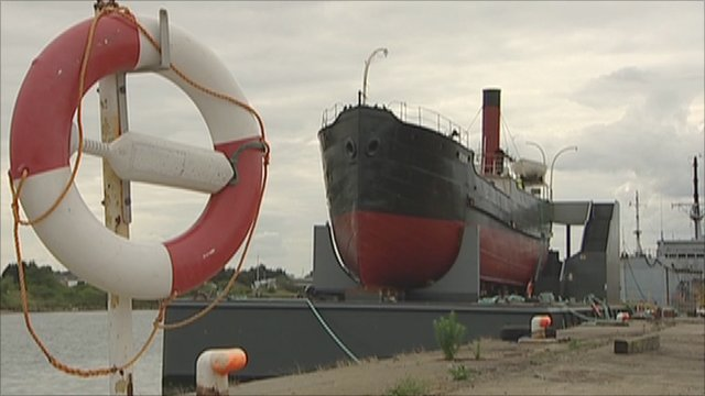 SS Robin at Royal Docks in east London