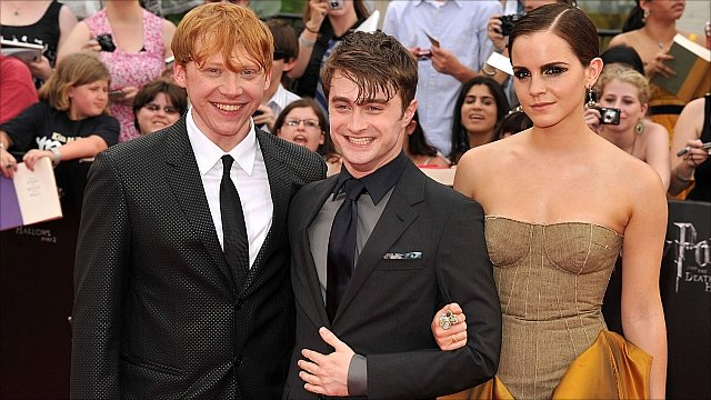 Rupert Grint, Daniel Radcliffe and Emma Watson
