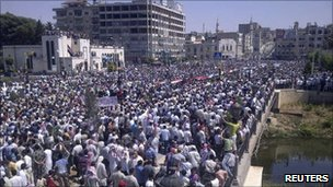 Anti-government protest in Deir al-Zour, 17 June 2011
