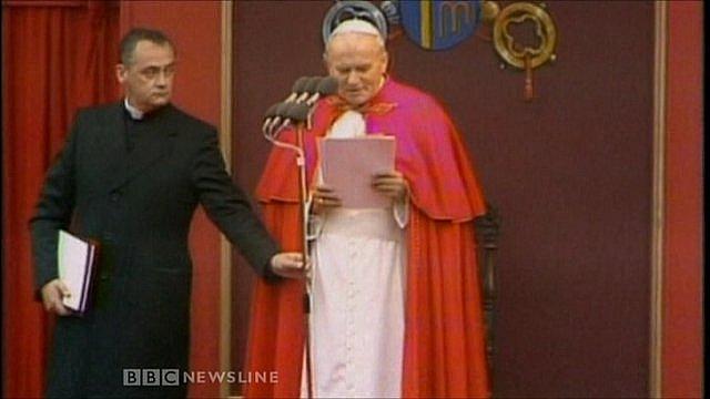 John Magee and Pope John Paul II