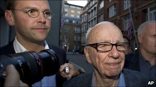 James and Rupert Murdoch