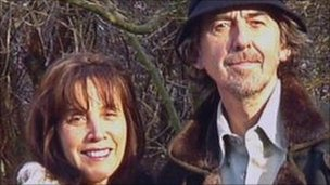 Olivia and George Harrison and his wife Olivia