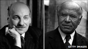 Clement Attlee and Lord Beaverbrook