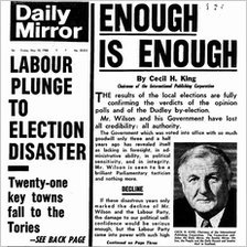 Daily Mirror front page from 10 May 1968 (Pic: Mirrorpix)
