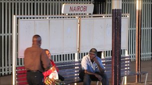 People waiting at Nairobi station