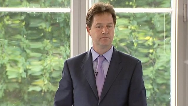Deputy PM Nick Clegg