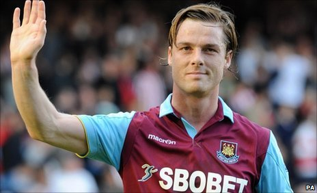 West Ham midfielder Scott Parker