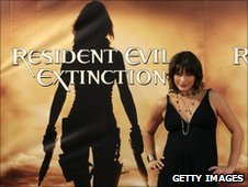 Milla Jovovich poses during a photocall for Resident Evil Afterlife