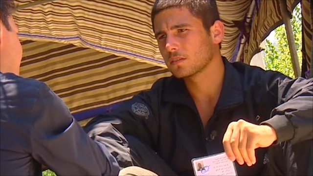 Samir, a soldier from Damascus, deserted after he says he was ordered to shoot civilians