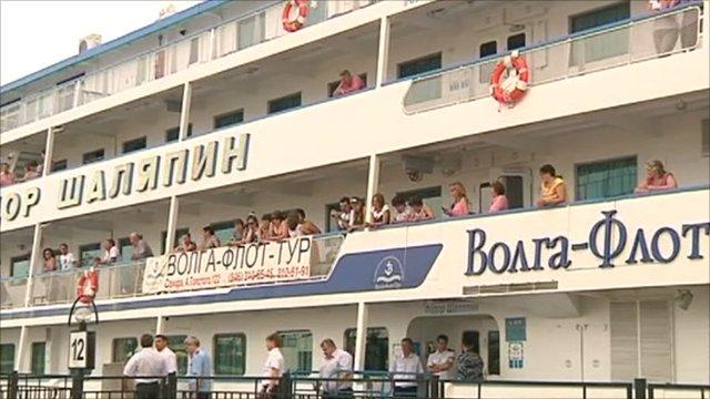 River boat in Russia