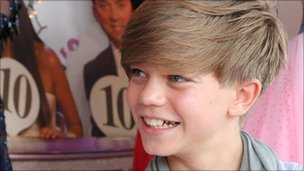 Ronan Parke, Britain's Got Talent finalist, at the Royal Norfolk Show 2011