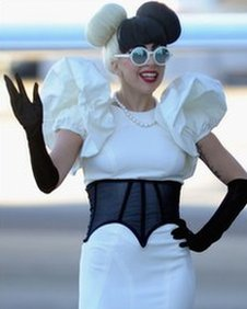 Lady Gaga arriving in Sydney