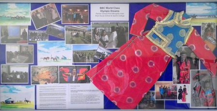 Park House's World Class display board, complete with traditional Mongolian attire