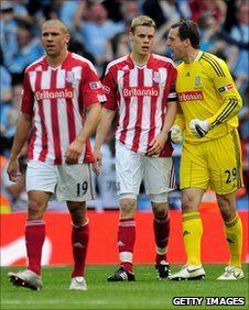 Stoke City players after losing FA Cup Final to Manchester City