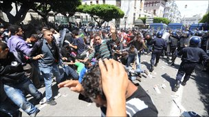 Riots in Algiers on 2 May 