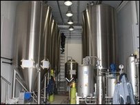 Inside the new brewery