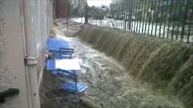 Photo: Flash flood