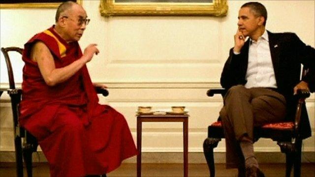 The Dalai Lama and Barack Obama
