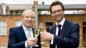 Lord Sugar and Tom Pellereau