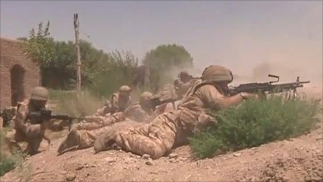 British troops in combat
