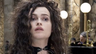 Harry Potter and the Deathly Hallows Part 2 star Helena Bonham Carter, playing the character of Bellatrix Lestrange