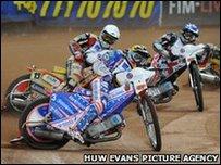 Speedway action at the Millennium Stadium