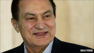 Former Egyptian President Hosni Mubarak (file image)