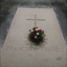 Gen Franco's gravestone in the Valley of the Fallen
