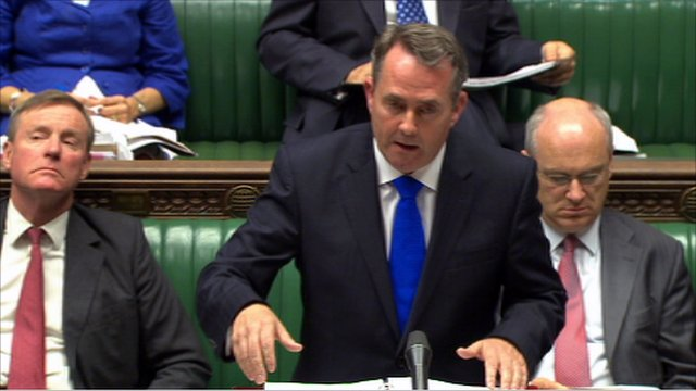 Secretary of State for Defence, Liam Fox, speaking the House of Commons