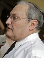 Efraim Zuroff of Simon Wiesenthal Center in Budapest (18 July 2011)