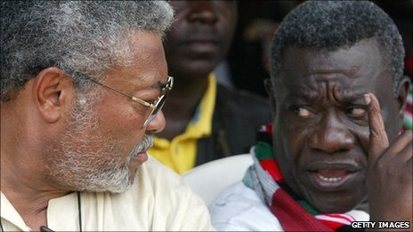 Jerry Rawlings and John Atta Mills