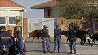 Police in Qunu